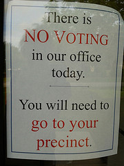 Go to your precinct.
