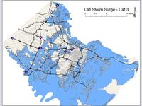 Old Category 3 Storm Surge Map by CEMA