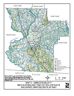 Lowndes County Water Resource Protection Districts Ordinance (WRPDO) Overlay Map
