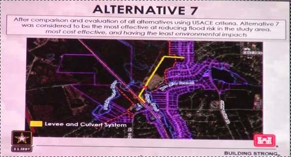 600x325 Levee Map, in Flooding Study --Army Corps of Engineers at Valdosta City Council, by Gretchen Quarterman, for Lowndes Area Knowledge Exchange, 6 May 2014