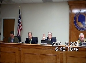 300x219 Swearing in speakers, in Duke Suwannee new turbine resolution sails through Suwannee County Commission, by John S. Quarterman, 2 September 2014