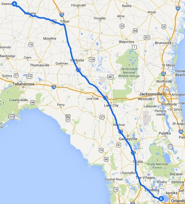 600x663 Map, in Alternative 1: US 82 -> I-75 -> FL Turnpike, FERC to Sabal Trail, by John S. Quarterman, 12 September 2014