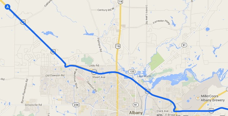 729x373 Armena through Miller-Coors Albany Brewery, in Alternative 2: Armena to US 82 to I-75 to FL Turnpike, FERC to Sabal Trail, by John S. Quarterman, 14 September 2014
