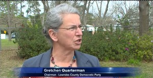 300x154 Gretchen Quarterman, in One Year After Sabal Trail Announces Pipeline Plans, Activists Begin Monthly Protests, by WCTV, 21 October 2014