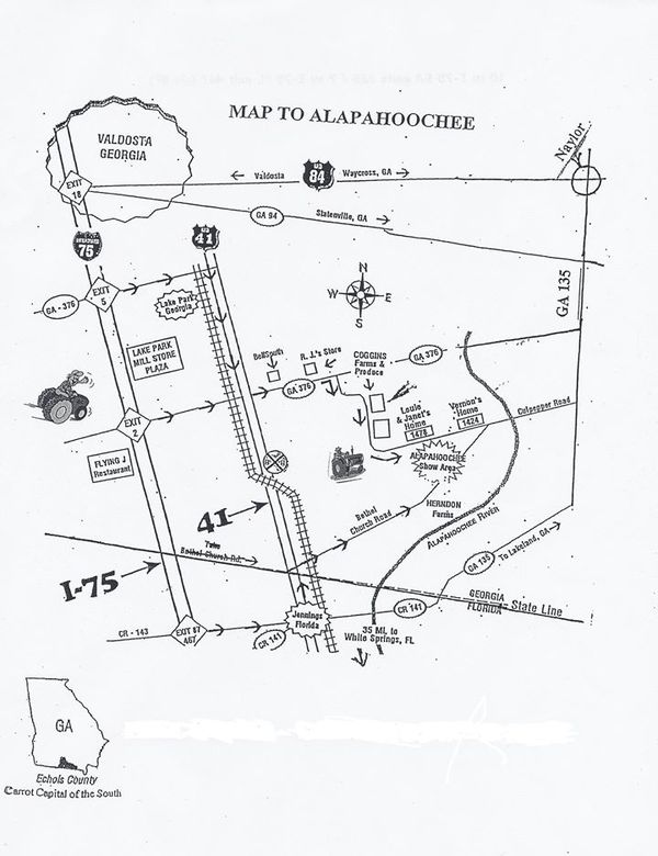 600x780 Map, in Alapahoochee Antique Tractor Show & Historic Farm Heritage Days, by Lake Park Chamber of Commerce, 24 October 2014