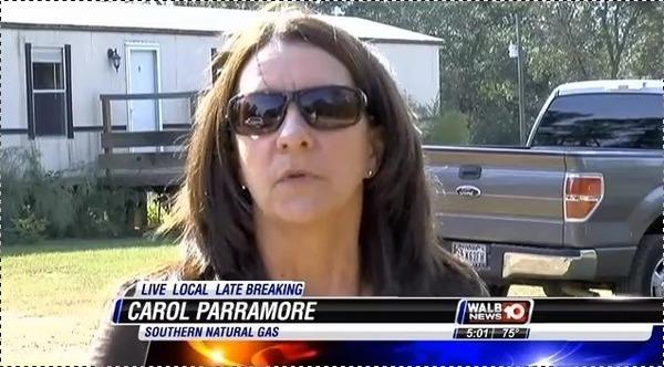 600x332 Carol Parramore of SONAT, in Pipeline Break in Berrien County --WALB TV, by Colter Anstaett, 6 November 2014