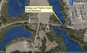 300x184 Franks Creek Bridge, in Maps from board packet, by John S. Quarterman, 10 February 2015