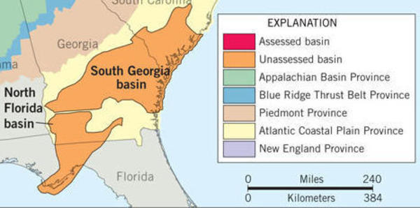 600x298 South Georgia and North Florida Basins Map, in Shale gas basins in South Georgia and north Florida, by USGS, 4 June 2012