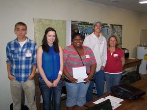 300x225 The winners: Honorable Mention Codi Sadler, Second Place Taarna Jones, First Place Maya Turner. Third Place Glenda Velasquez not pictured, plus ARWT Chair Chris Graham and logo contest coordinator Deanna Mericle, in Logo Winners, by Deanna Mericle,