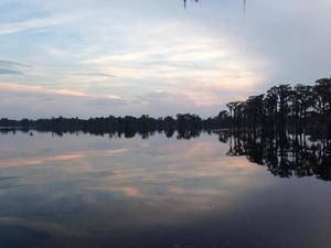 300x225 Evening falls, in Banks Lake Full Moon, by John S. Quarterman, 13 June 2014