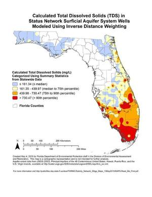 Florida Well Salinity Study WWALS Watershed Coalition Suwannee - Us water tds map