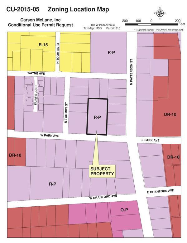 Zoning Location Map