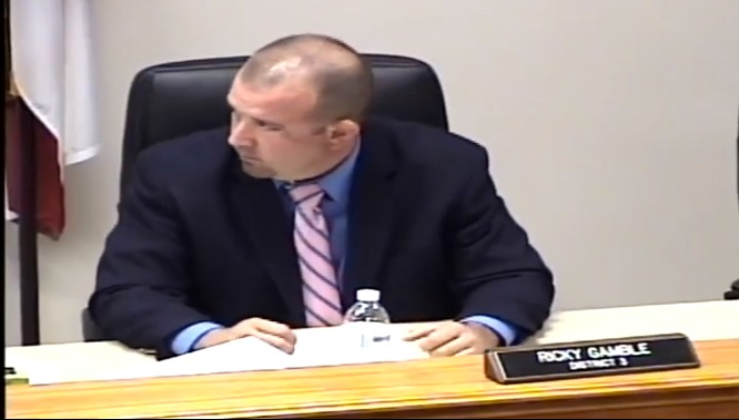 666x379 Commissioner Ricky Gamble, in To protect the aquifer and to protect the river against Sabal Trail, by Suwannee County Board of Commissioners, 1 December 2015