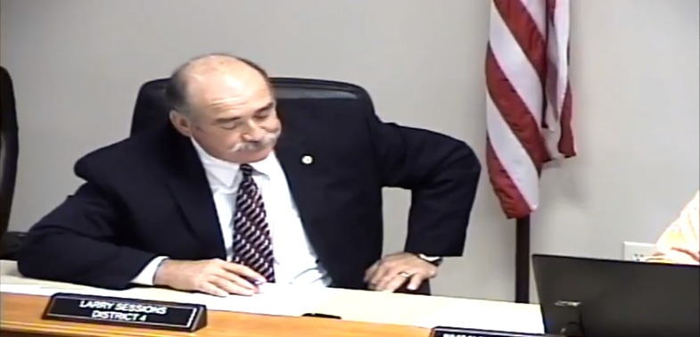 785x378 Commissioner Larry Sessions, in To protect the aquifer and to protect the river against Sabal Trail, by Suwannee County Board of Commissioners, 1 December 2015
