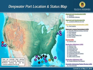 Deepwater Port Location & Status Map