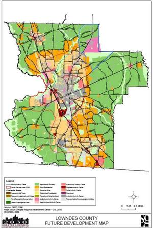 Lowndes County Future Development Map