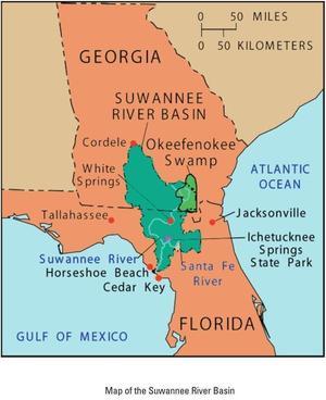Map of Suwannee River Basin