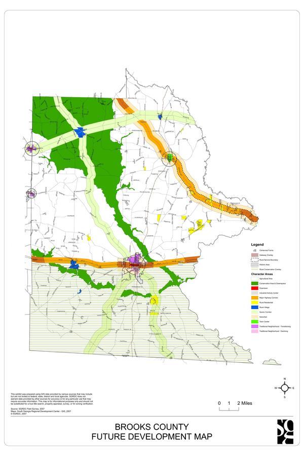 Brooks County Future Development Map