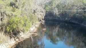 River from US 129 bridge, Suwannee River