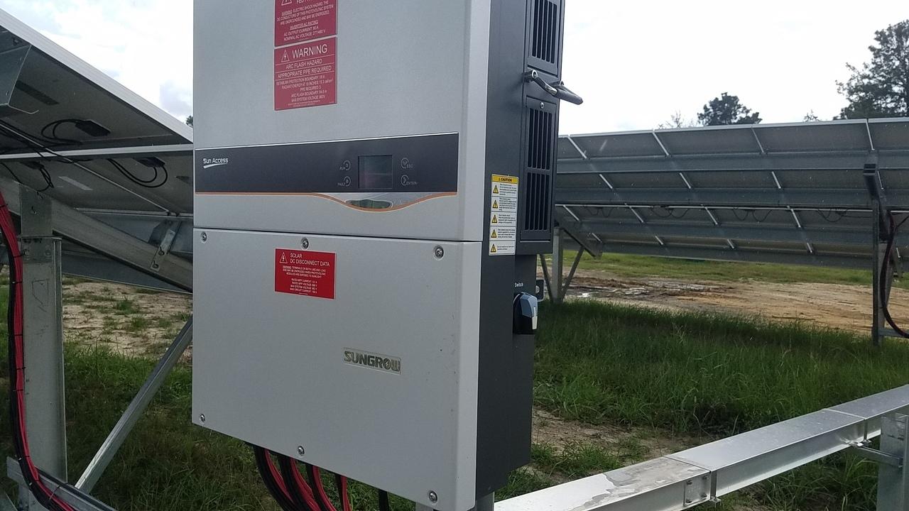1280x720 Sungrow, in Valdosta Solar Power on Val Tech Road, by John S. Quarterman, 1 September 2017