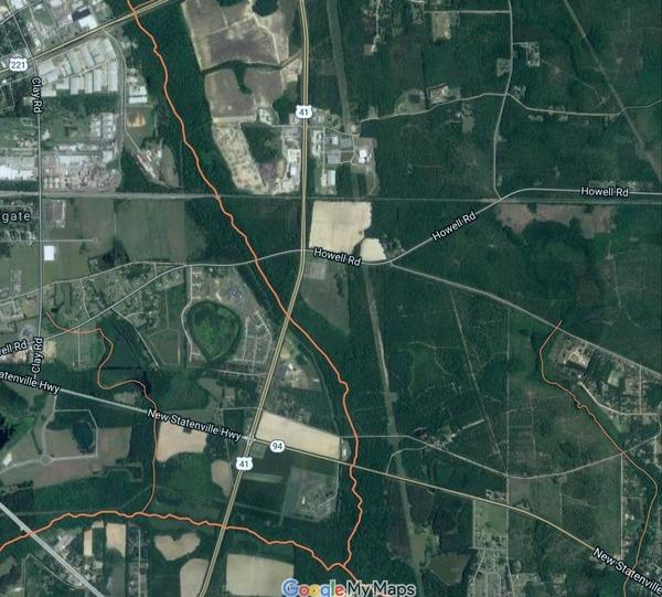 Due north of Mud Creek WTP, East of Valdosta