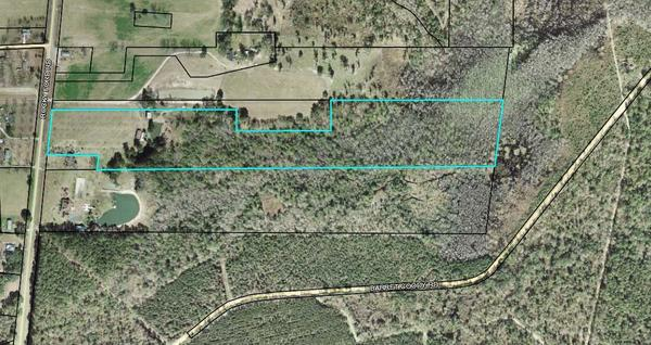 Parcel 0062 025, 20.94 acres, 4394 ROCKY FORD ROAD, VALDOSTA GA 31601, Map