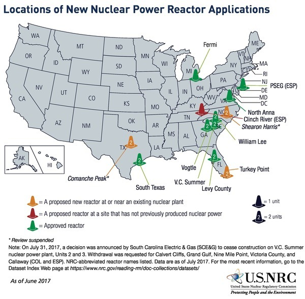 New Reactor Applications, Map