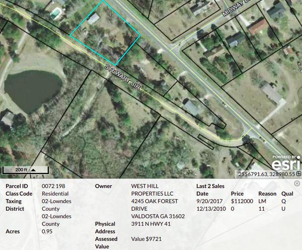Parcel 0072 198, Map