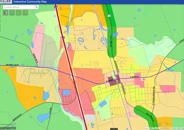 Hahira overlay map, VALORGIS