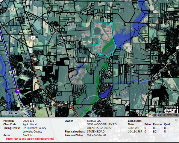 [Map: NATCO Staten Road]