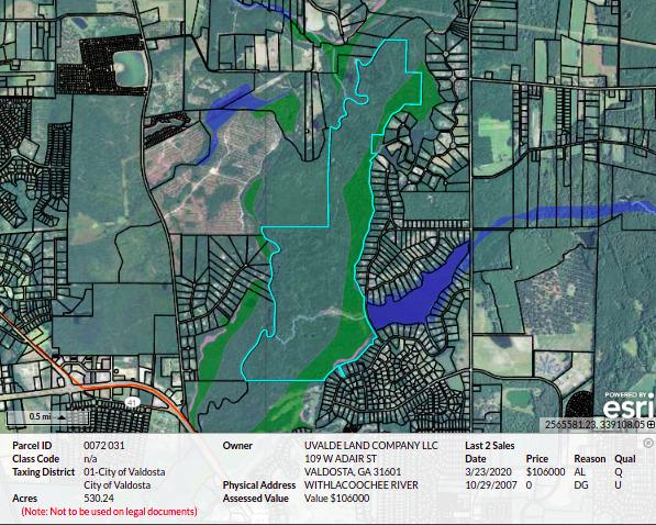 [Map: Uvalde Land Company, LLC:]