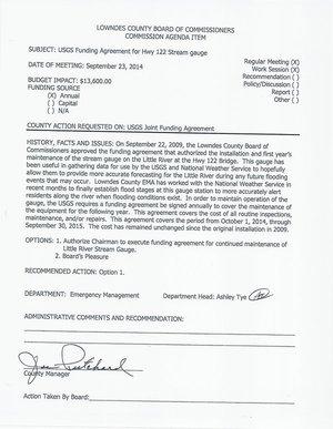 [6.e. USGS Funding Agreement for Hwy 122 Stream Gauge]
