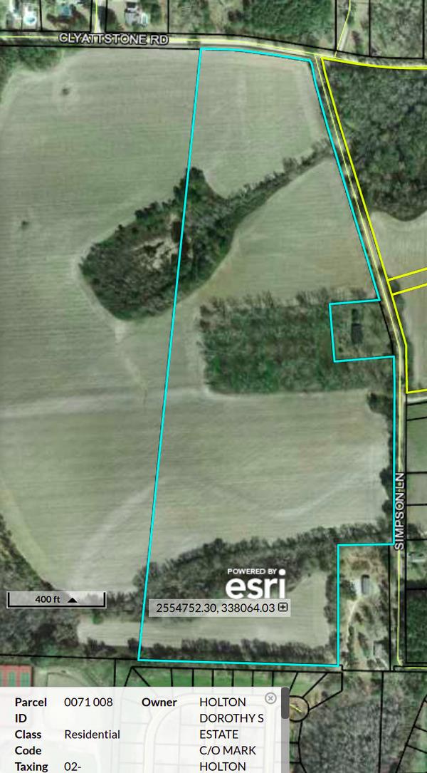[Map: REZ-2020-20 Ballyntyne 6712 Clyattstone Road (0071 008)]