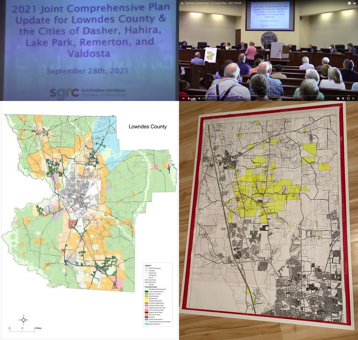 [Comprehensive Plan Update, Crowd, Lowndes County Character Areas, Map of those opposed to changing Character Areas]