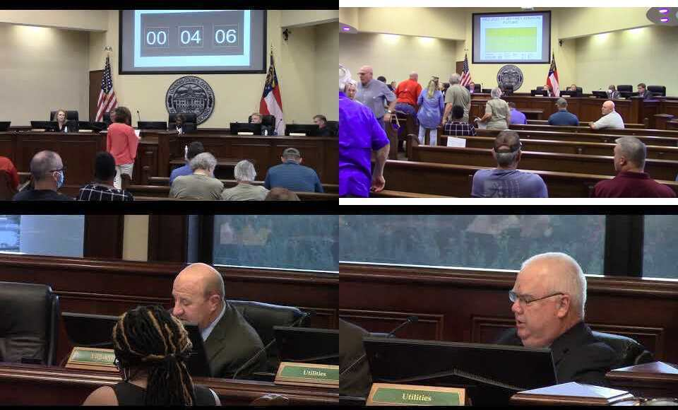 [Subdivision too far north on Val Del approved, audience reaction, Wells Road stays open, un-needed $million water main approved]