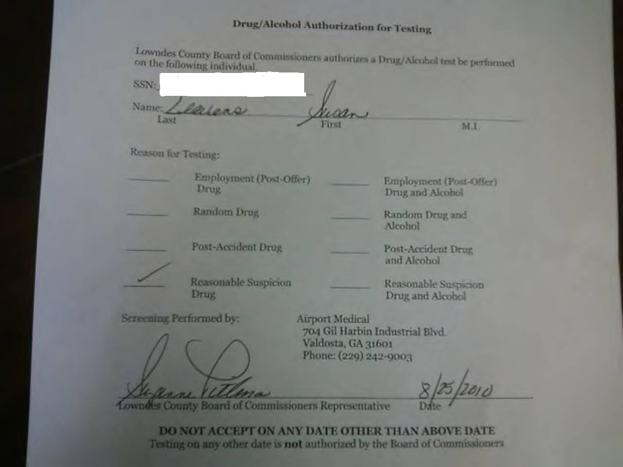 Drug testing in the workplace essay