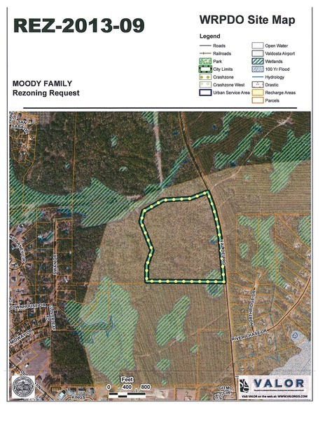 WRPDO Site Map, Moody Family Housing, REZ-2013-09