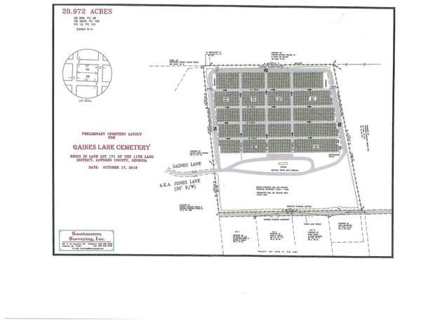 [Preliminary Cemetery Layout for Gaines Lane Cemetery]