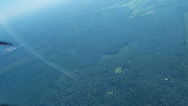 Aerial: From the New River across the HPS II mine site to Lake Butler